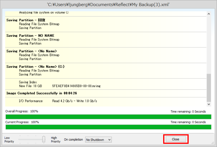 Macrium Reflect Free Editionでバックアップする方法(手順)9