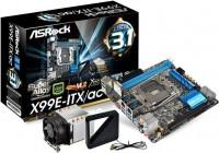 ASRock X99E-ITX/acのパッケージ,マザーボード,CPUクーラーの写真