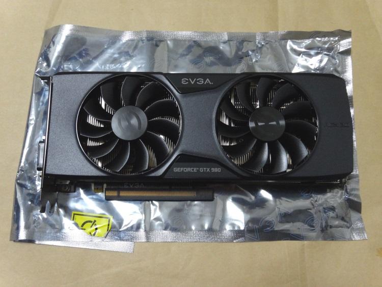 EVGA GeForce GTX 980 Superclocked ACX 2.0本体(表側)