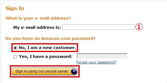 amazon.comでアカウントを作成する手順2