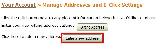 amazon.comで住所登録する手順3