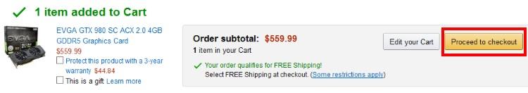amazon.comの注文手順6
