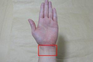 手首の内側