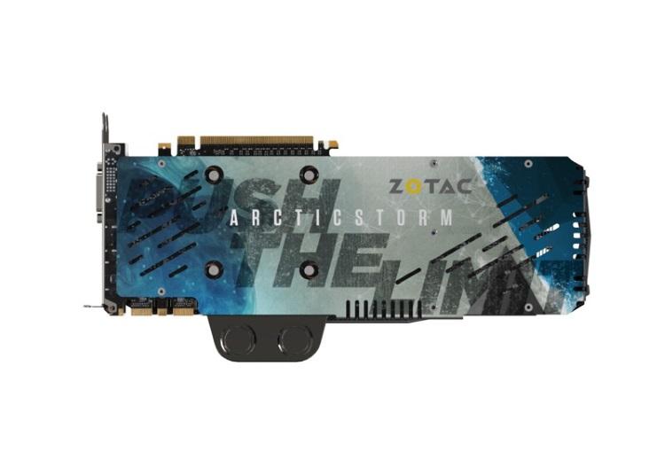 ZOTAC GeForce GTX TITAN X ArcticStorm本体(裏側)