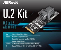 ASRock M.2 to U.2変換カード