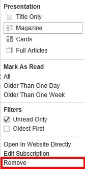 Feedlyからブログやサイトを削除する方法2