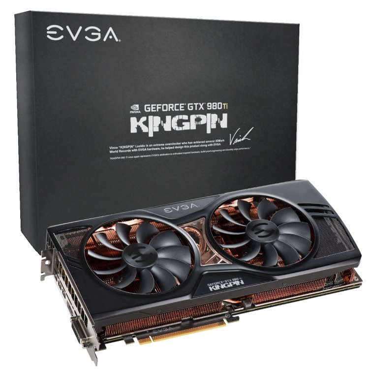 EVGA GEFORCE GTX 980 Ti KINGPIN本体とパッケージ