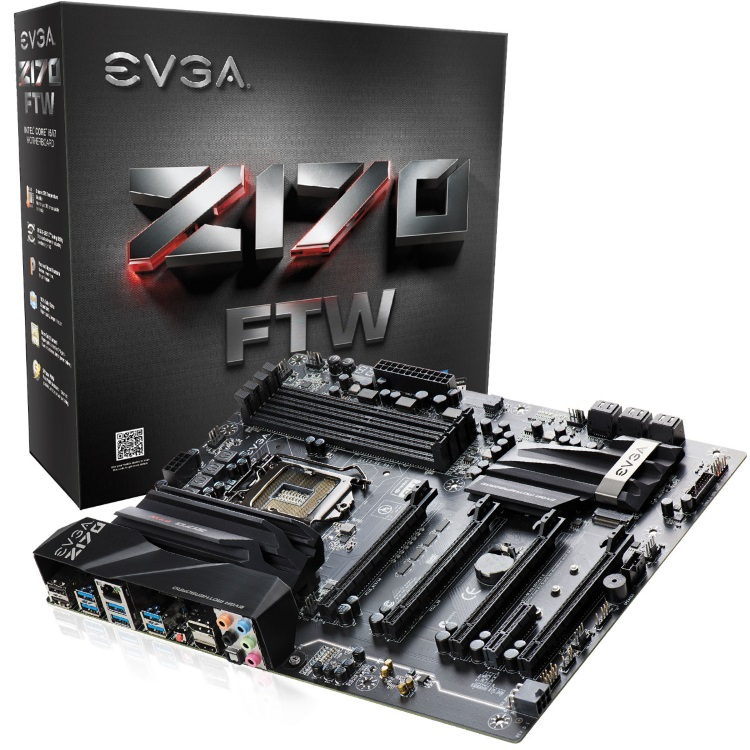 EVGA Z170 FTW本体とパッケージ