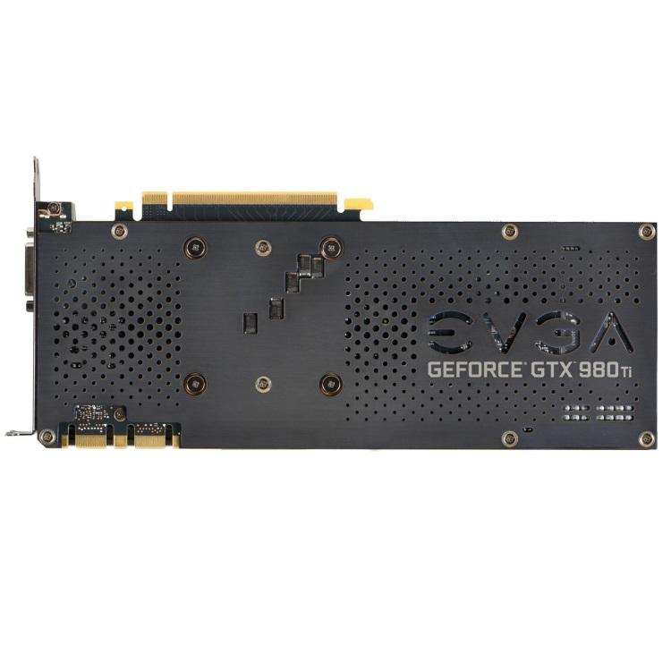 EVGA GeForce GTX 980 Ti FTWの本体裏側(バックプレート)
