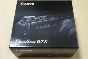 Canon PowerShot G7 Xのパッケージ