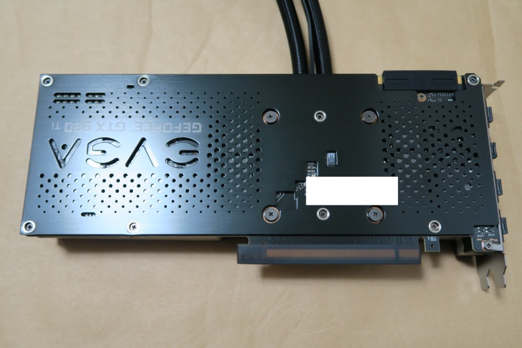 EVGA GeForce GTX 980 Ti HYBRID GAMING本体裏面