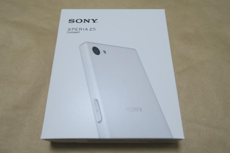 Sony Xperia Z5 Compact E5823のパッケージ