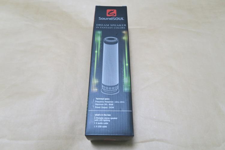 SoundSOUL LED bluetooth スピーカーのパッケージ