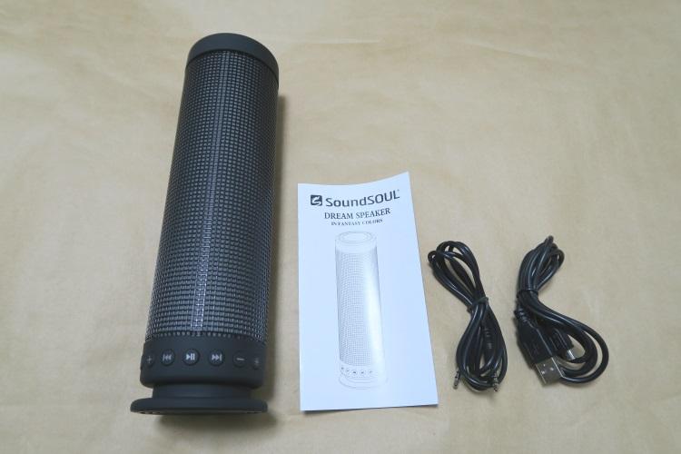SoundSOUL LED bluetooth スピーカーの製品内容