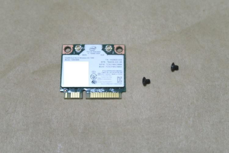 Intel Wireless-AC 7260HMW本体とねじ