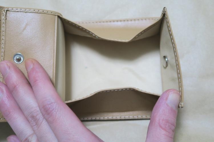 Raffaelloの財布 ブライドルレザーの小銭入れ部分