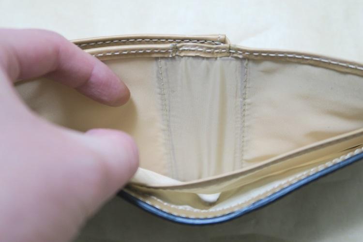Raffaelloの財布 ブライドルレザーの札入れ部分1