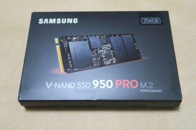 NVMe M.2 SSD Samsung 950 PRO 256GBのレビュー