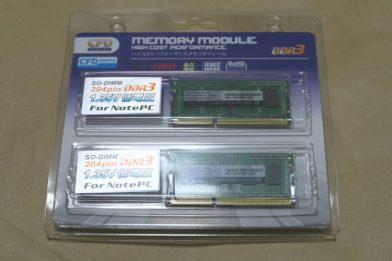 ノートPC向け低電圧メモリ CFD W3N1600PS-L4Gのレビュー
