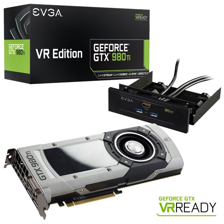 EVGA GeForce GTX 980 Ti VR EDITION GAMING (06G-P4-3998-KR)の本体とアクセサリとパッケージ