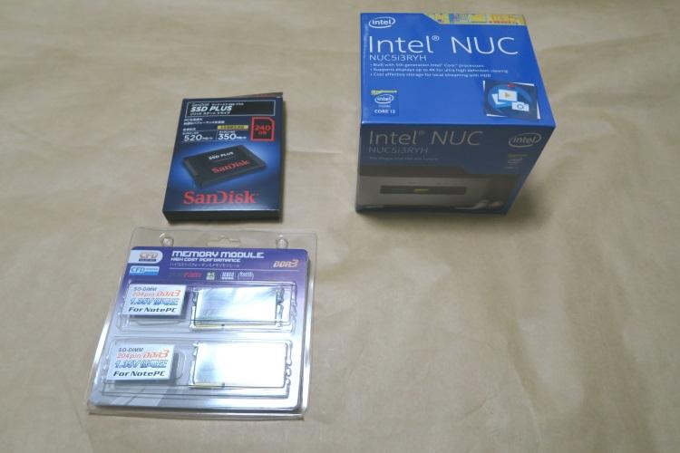 Intel NUC NUC5i3RYKと対応SSD、対応メモリ