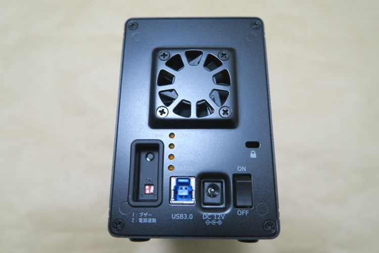 RATOC RS-EC32-U3R本体背面