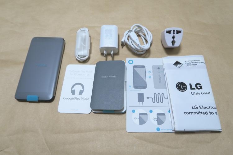 Google Nexus 5X(LG-H791)の製品内容