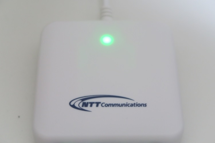 ACR39-NTTComが点灯している様子