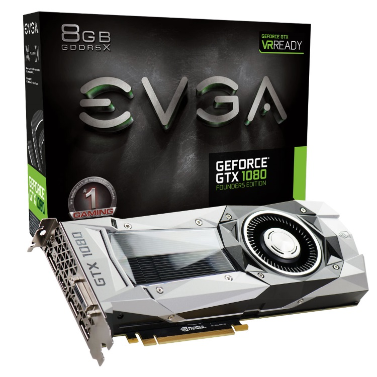 EVGA GeForce GTX 1080 FOUNDERS EDITIONのパッケージと本体