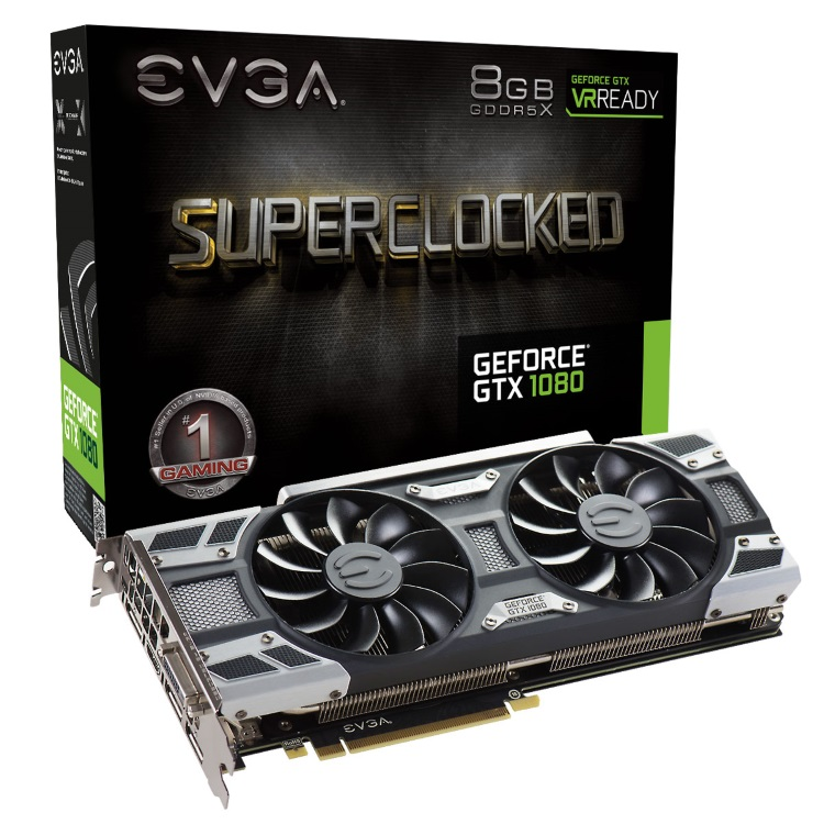EVGA GeForce GTX 1080 SC GAMING ACX 3.0のパッケージと本体