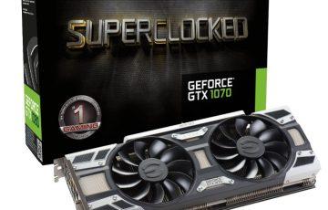 EVGA GeForce GTX 1070 SC GAMING ACX 3.0の本体とパッケージ