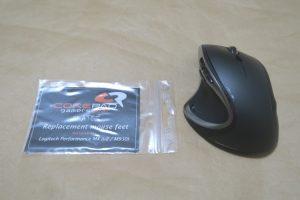 Corepad MX-M950とLogicool M950tを並べた様子