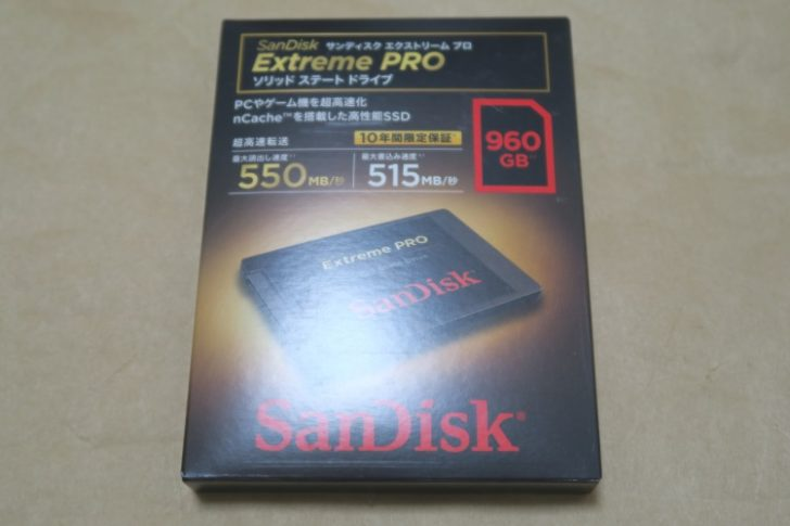 SanDisk SDSSDXPS-960G-J25のパッケージ