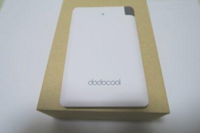 薄型モバイルバッテリー dodocool DP-08のレビュー
