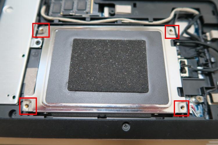 HP dv6-6118TXをSSD化する手順(HDDを交換する方法) 11
