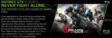 Nvidia GTX Gears of War 4 Bundleをスタート
