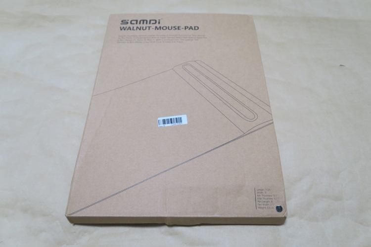 SAMDI 木製マウスパッドのパッケージ