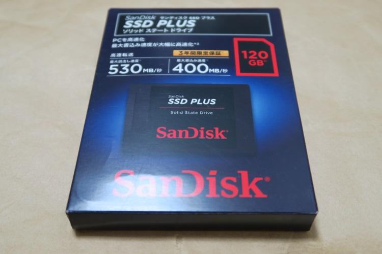 SanDisk SSD PLUS 120GB SDSSDA-120G-J26のパッケージ