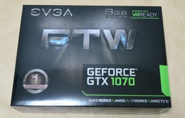 EVGA GeForce GTX 1070 FTW GAMING ACX 3.0のパッケージ