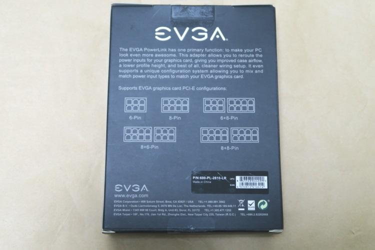 EVGA PowerLinkのパッケージ(裏側)