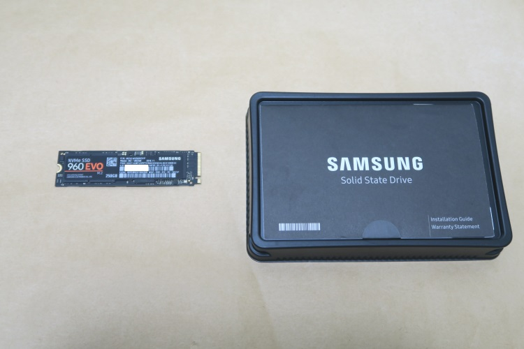 Samsung 960 EVO 250GB MZ-V6E250B-ITの製品内容