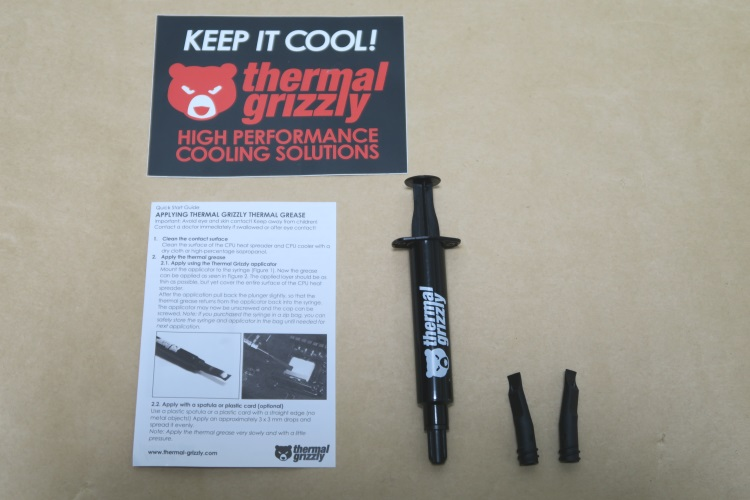 Thermal Grizzly Kryonaut 1.5ml(TG-K-015-R)の製品内容
