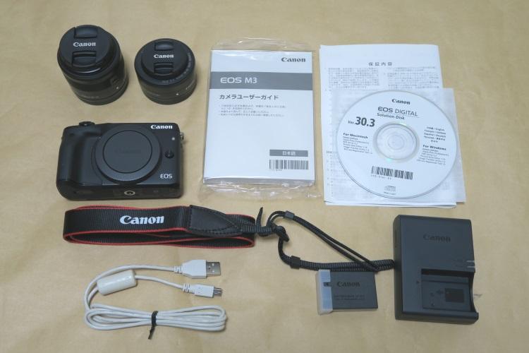 Canon EOS M3 ダブルレンズキット2の製品内容