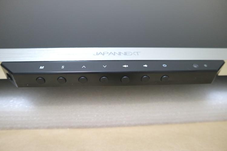 JAPANNEXT JN-IPS320UHDのスイッチ部