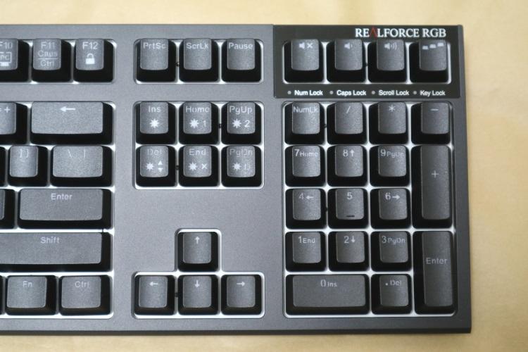 東プレ REALFORCE RGB AEAX01のキー配列(本体右側)