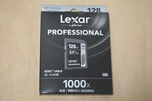 Lexar Professional 1000x LSD128CRBJPR1000のパッケージ表側