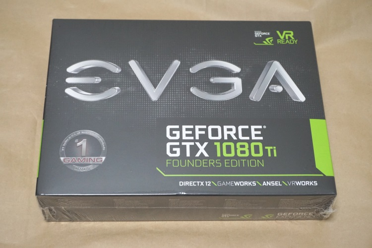 EVGA GeForce GTX 1080 Ti FOUNDERS EDITIONのパッケージ