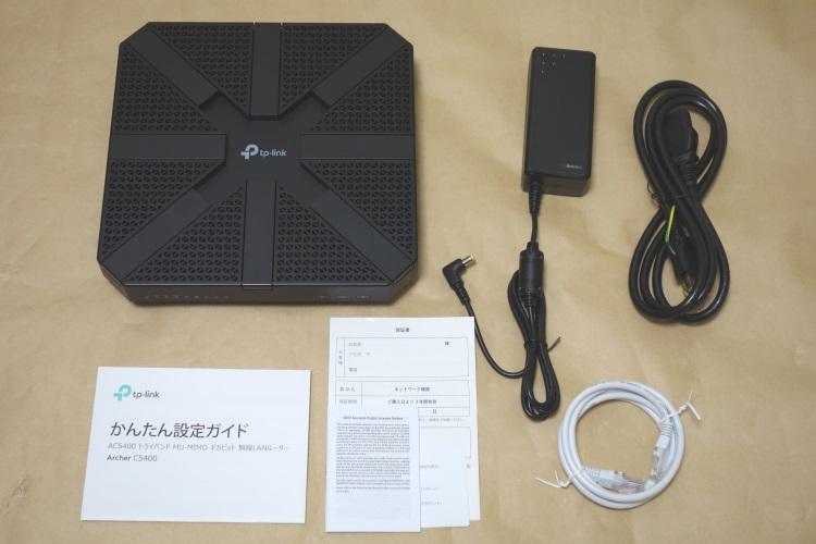 TP-Link Archer C5400(AC5400)の製品内容(付属品)