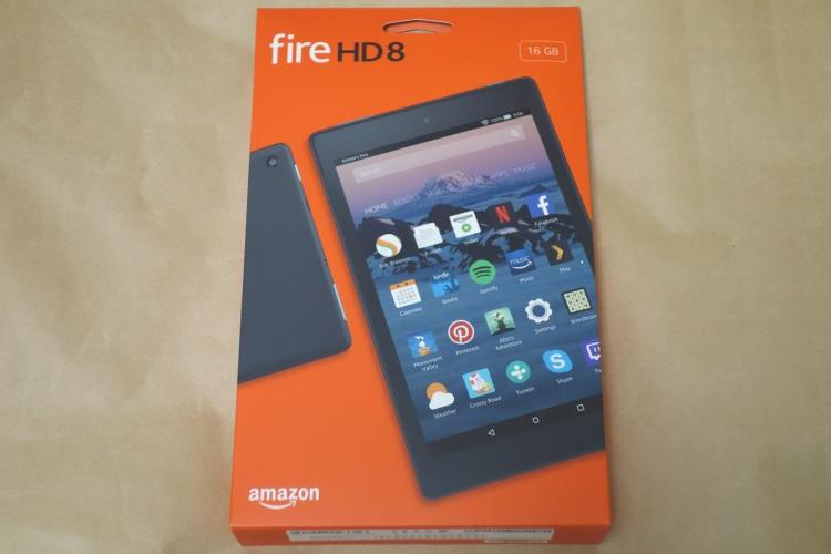 Fire HD 8 タブレット (Newモデル) 16GB、ブラック(2017年モデル)のパッケージ