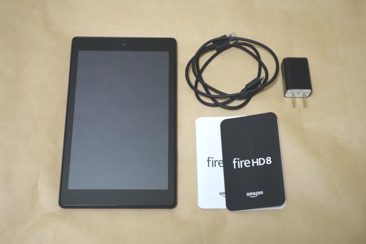 Fire HD 8 タブレット (Newモデル) 16GB、ブラック(2017年モデル)の製品内容(付属品)